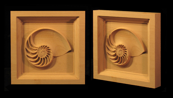 Image Nautilus Shell Corner Block
