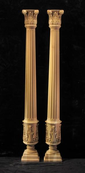 Image CLEARANCE - Corinthian Column - 2 Halves - 6W x 48.25T
