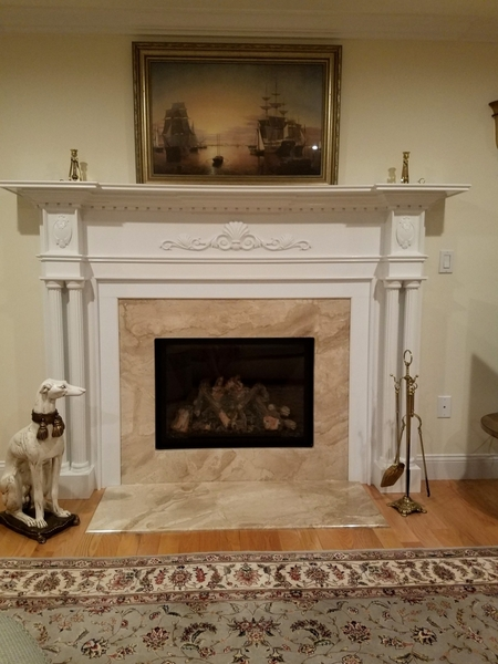 Image Fireplace Mantel with Accents
