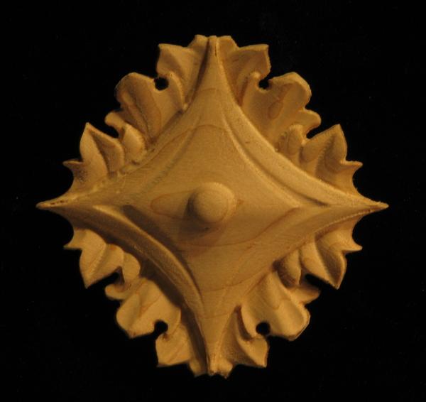 Image CLEARANCE - Acanthus Rosette - 2.125 - (10pc) - Alder
