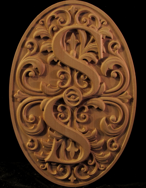 Monogrammed Medallion | Whimsical Art, Medallions, & Client Projects