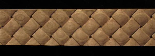 Image Frieze Moulding - Square Weave - No edge