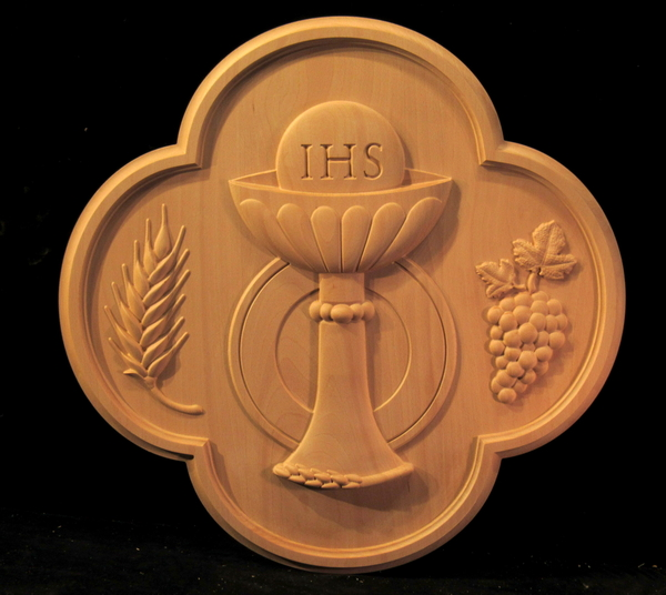 Image Holy Communion - Chalice Medallion with Grapes and Wheat