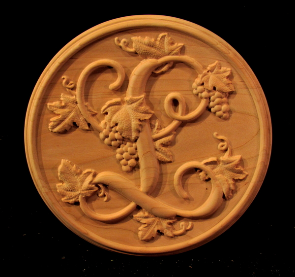 Image Monogrammed Medallion with Grapes
