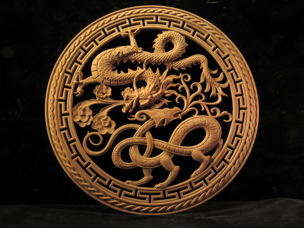 Dueling Dragons  Medallion | Whimsical Art, Medallions, & Client Projects