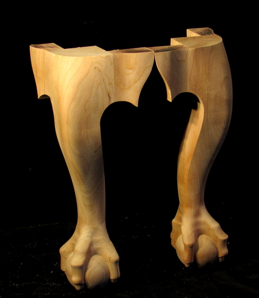Image Claw Foot Legs - Chippendale Style