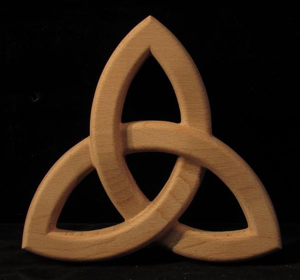 Image Onlay - Trinity Knot- Pierced