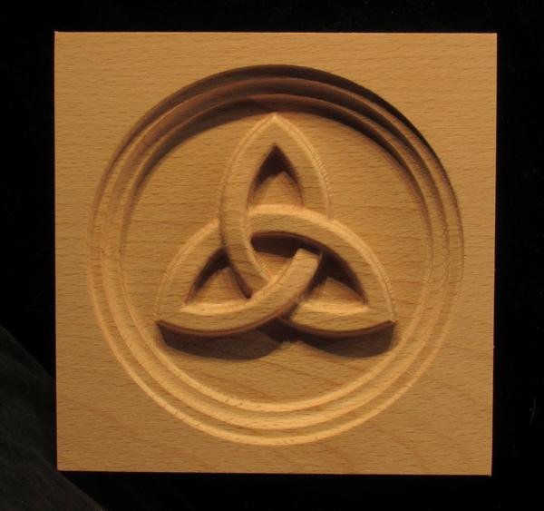 Image Corner Block - Trinity Knot