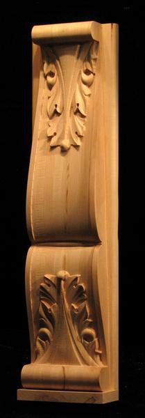Image Pilaster, Island Corner - Double Acanthus w Backing