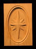 Image Corner Block - Rose Compass