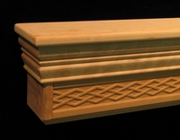 Mantel Shelf - Diamond Weave Frieze