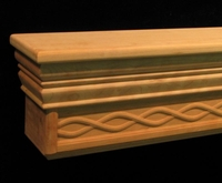 Mantel Shelf - Simple Weave Carving
