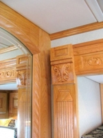 Image Monaco Coach, Signature RV Coach, carved mirror frame, carved column & corner bl