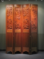 Image Decorative Partition Screen - Carved Wine Grapes