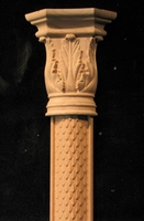 Image Applique Pilaster  - Acanthus Capital & Bark base