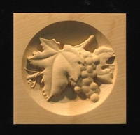 Image Corner Block - Wine Grapes - Round Inset