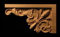 Image Carved Stair Bracket - Fleur des Lis #2