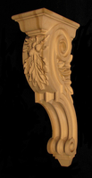 Custom Oak Leaf & Acorn Corbel - Large