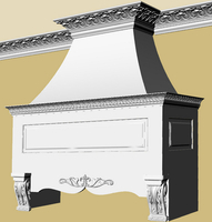 French Country Range Hood Rendering