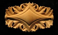 Image Onlay - Acanthus Double Leaf - Pierced