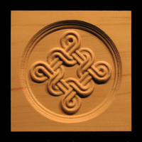 Image Corner Block - Celtic Double Weave