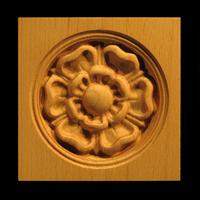 Image Corner Block - Classic Flower - Round Inset