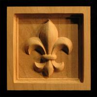 Corner Block - Fleur de Lis #1