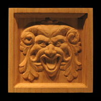 Image Corner Block - Green Man