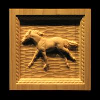 Image Corner Block - Running Horse and Rope border