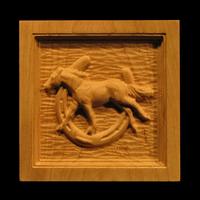 Image Corner Block - Horse and Horseshoe