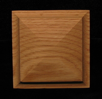Image CLEARANCE -  Post top - Red Oak 4 x 4