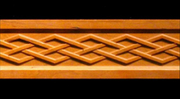 Image Frieze Moulding - Celtic Diamond Weave