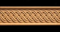 Image Frieze Moulding - Celtic Double Weave