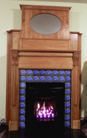Fireplace using Acanthus Capitals and Ribbed Pilaster