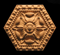 Image Medallion - Classic Flower with Border