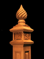 Image Spiral Finial Newel Post