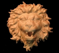 Image Lion and Wolf Carving