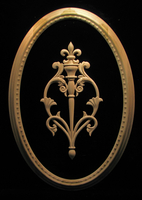 Egg and Dart Frame and Fleur de Lis Onlay