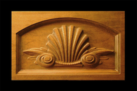 Image Keystone - Classic Shell carving w Scrolls Inset