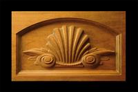 Image Keystone - Classic Shell w Scrolls Inset