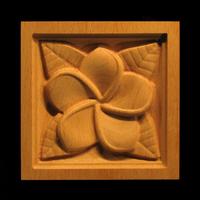 Image Corner Block - Plumeria Blossom