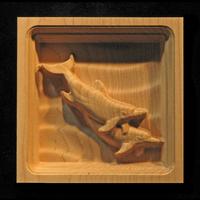 Image Corner Block - Dolphin Pair