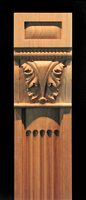 Image Pilaster - Ionic Fluting w Acanthus Capital