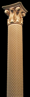 Image Wooden Column - Full or Half Round - Scales and Acanthus Capital