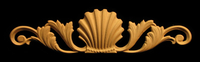 Image Onlay - Wide - Classic Shell w Scrolls
