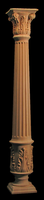 Image Column - Acanthus Base,  Fluted Body, Corinthian Top - 6