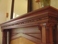 Image Carved Mantel Frieze - Philyaw house.