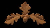 Image Onlay - Oak Leaves - Center