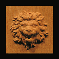 Image Plaque - Roaring Lion Head