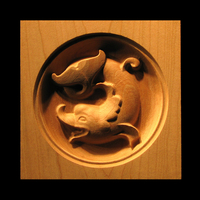 Image Corner Block - Classic Dolphin